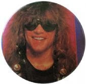 Bon Jovi - 'Jon Sunglasses / Smile' Button Badge